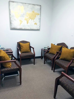 Chiropractic Overlea MD Waiting Room