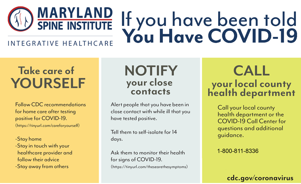 If You've Been Told You Have COVID-19 in Bel Air MD
