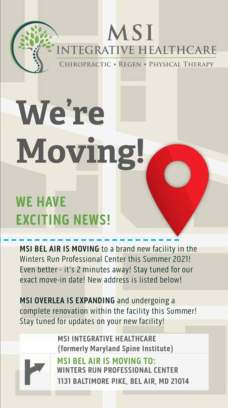 MSI Integrative Healthcare Updated Moving Announcement
