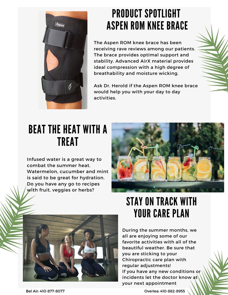 Chiropractic Bel Air MD August Newsletter